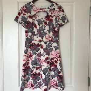 Kensie Dresses - Kensie Women's Cutout Printed A-Line Dress size S